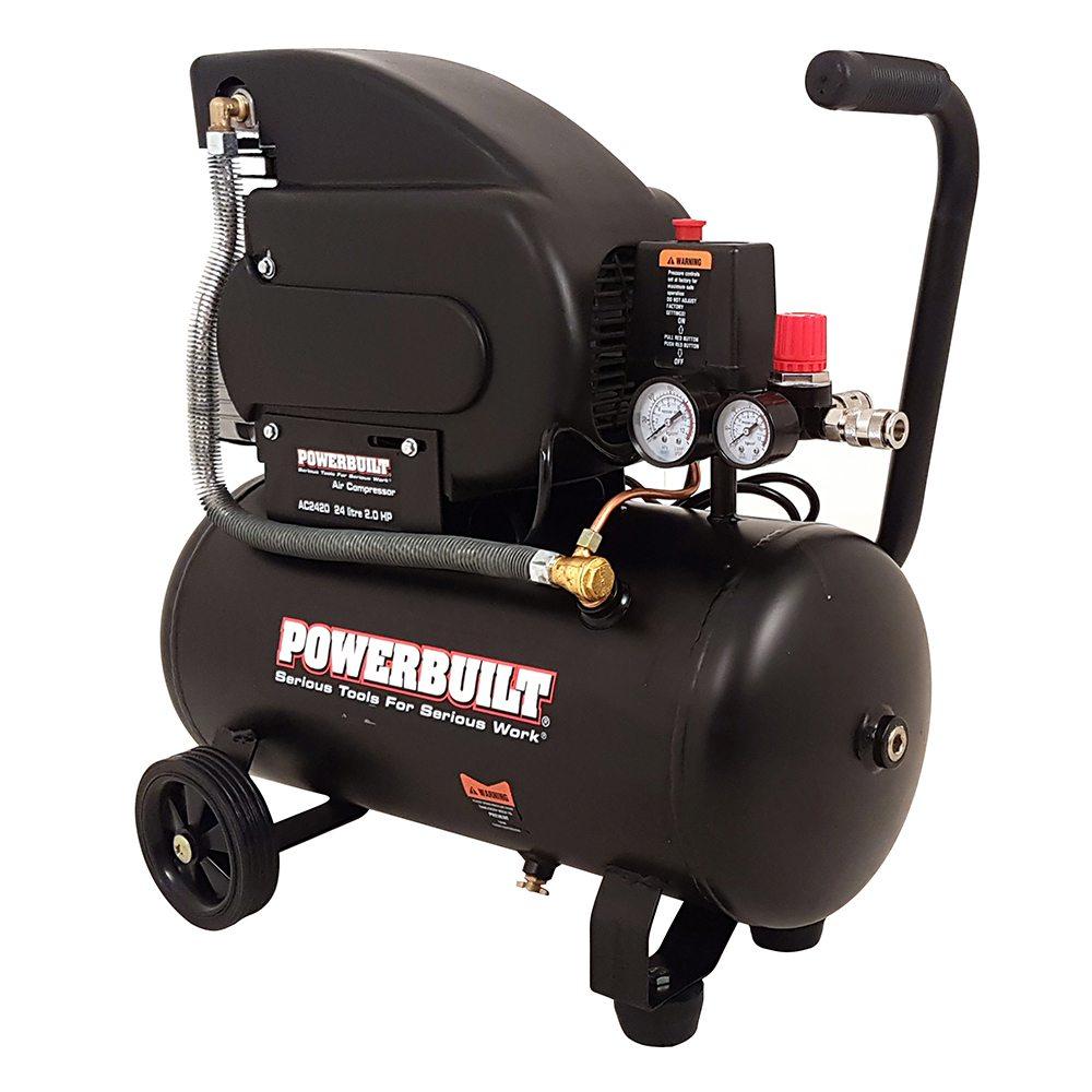 24l 2hp Air Compressor Direct Drive Power Built Tools