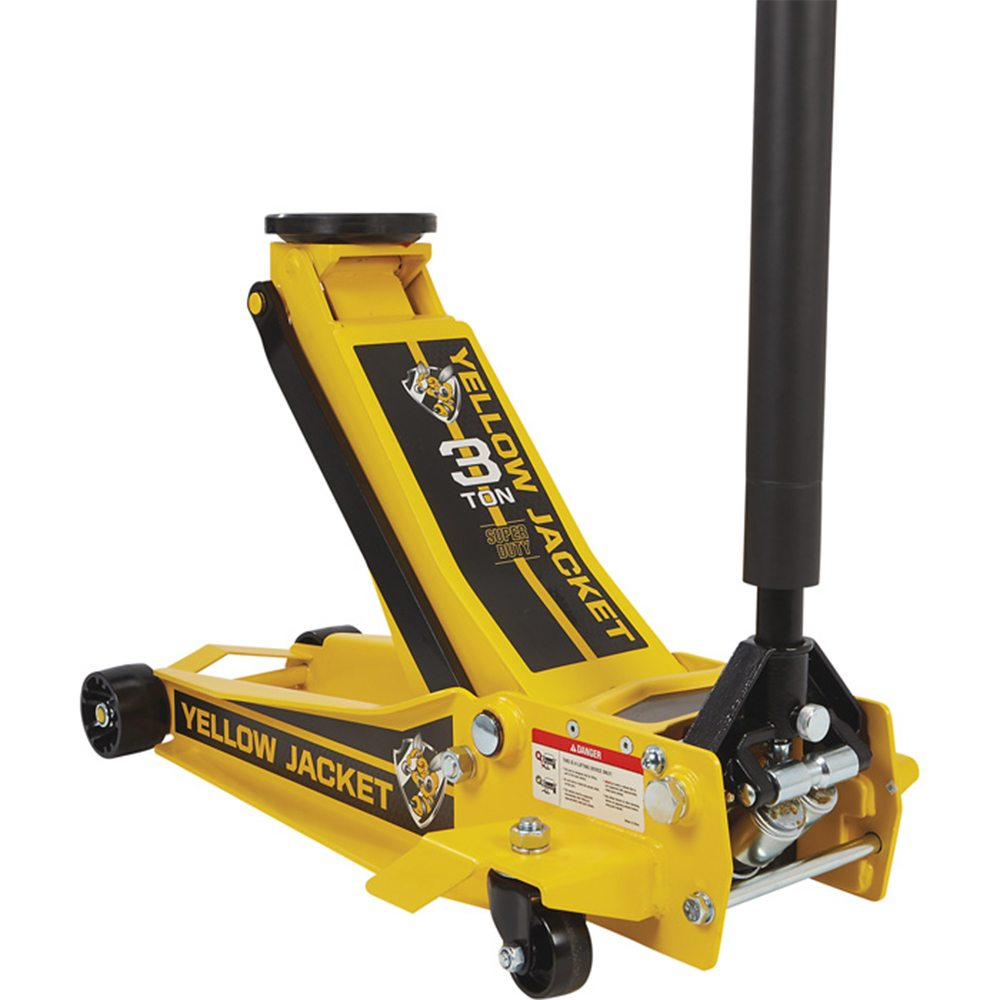 3 Ton 2700kg Pro Super Duty Garage Jack Yellow Jacket